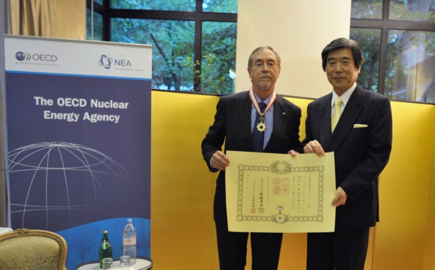 Former NEA Director-General honoured with conferral of the Order of the Rising Sun