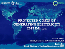 Webinar on electricity generating costs
