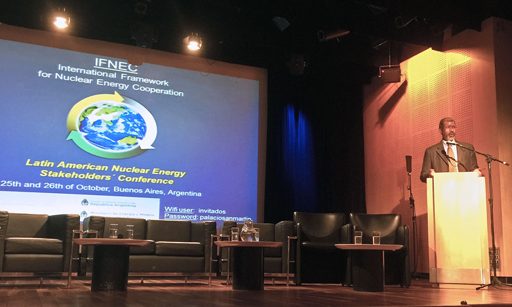IFNEC Latin American Nuclear Energy Stakeholders Conference in Buenos Aires, Argentina, October 2016