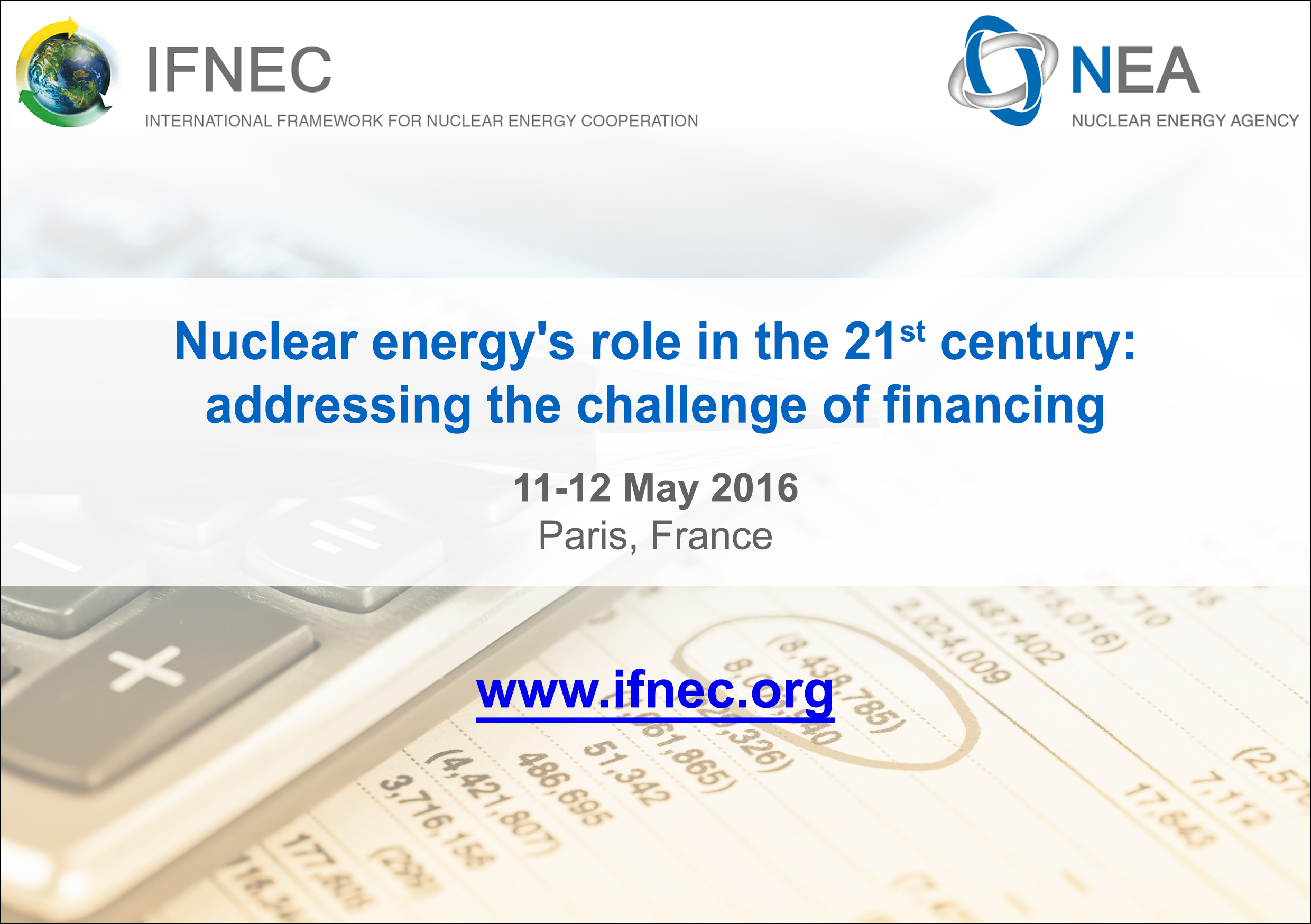 Nuclear Finance Conference, May 2016