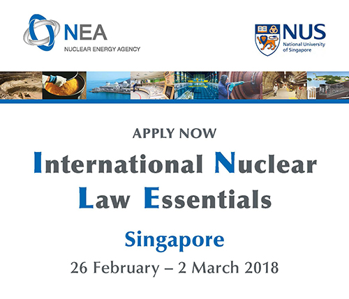 NEA International Nuclear Law Essentials (INLE) brochure image