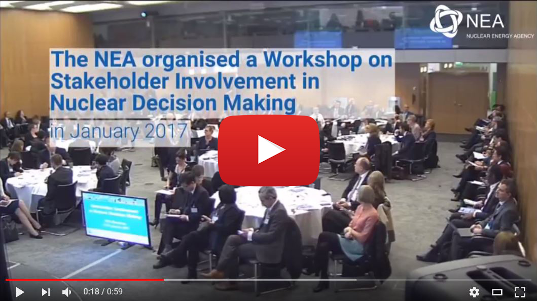 NEA Workshop on Stakeholder Involvement in Nuclear Decision Making