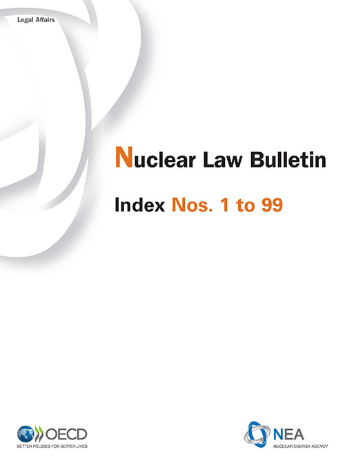 Nuclear Law Bulletin Index cover