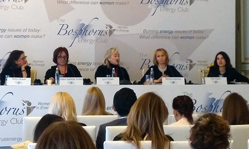 Head of the NEA Division of Nuclear Science Dr Tatiana Ivanova speaks at the Bosphorus Energy Club Women in Energy Conference, March 2018