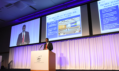 NEA Director-General Mr William D. Magwood, IV speaks at the Japan Atomic Industry Forum (JAIF) 51st annual conference, April 2018