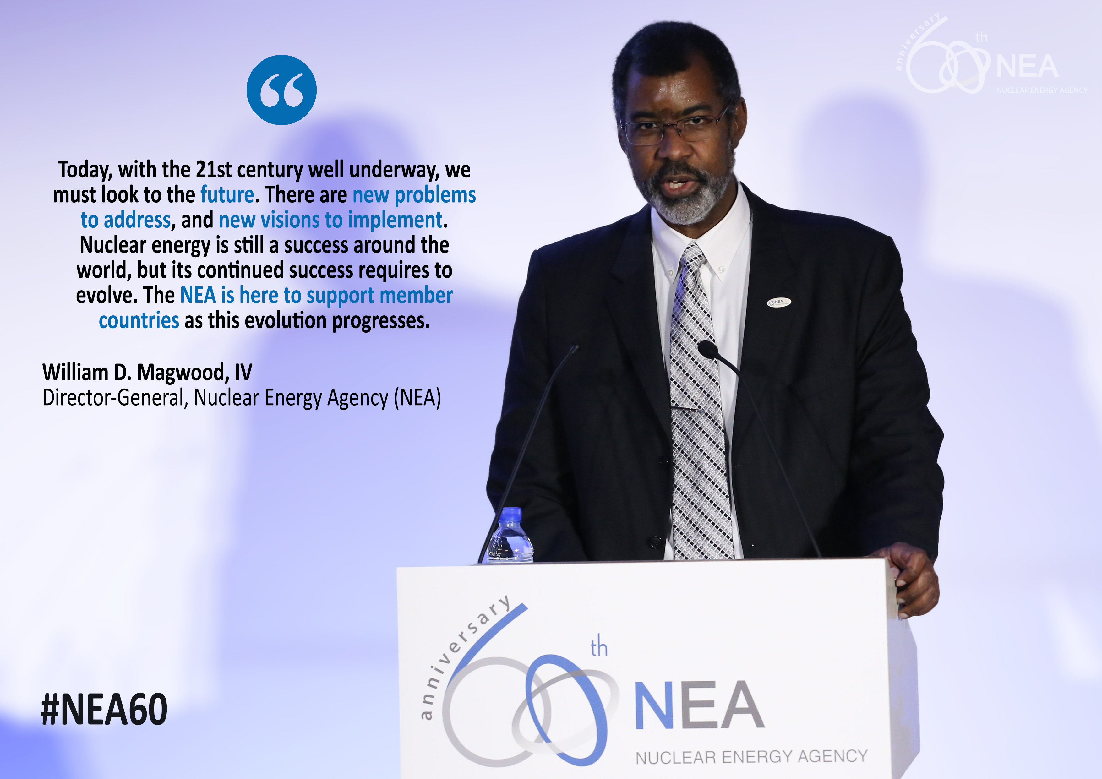 NEA Director-General William D. Magwood, IV at the special high‑level session organised on the occasion of the 60th anniversary of the NEA, 19 April 2018