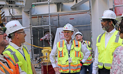 Director-General Magwood visits Vogtle Electric Generating Plant, Units 3 and 4 construction site, May 2018