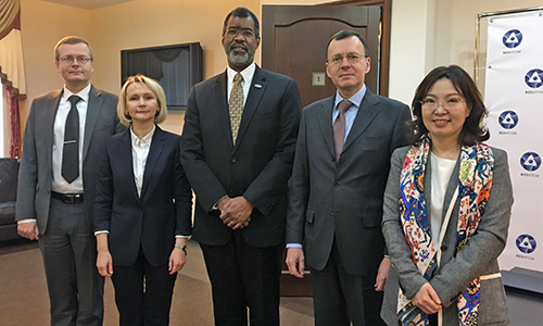 NEA Director-General Mr William D. Magwood, IV and senior staff visited Russia on 15 February to meet with ROSATOM Deputy Director-General Nikolay Spasskiy and staff