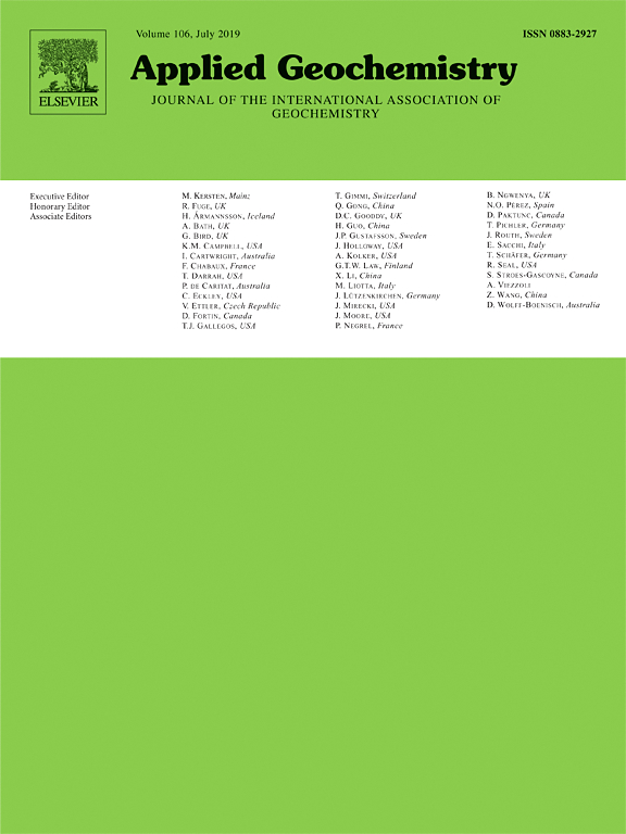Applied Geochemistry Volume 107