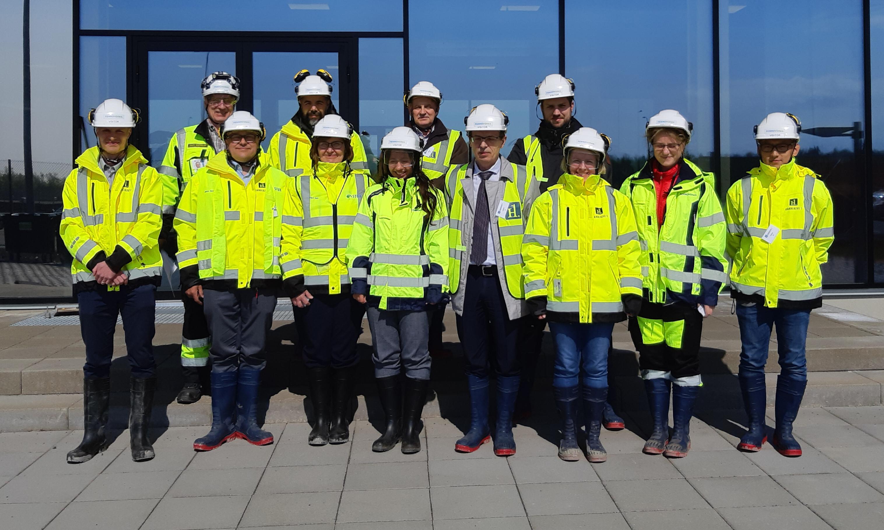 MDEP VVERWG visits the Hanhikivi 1 construction site, May 2019