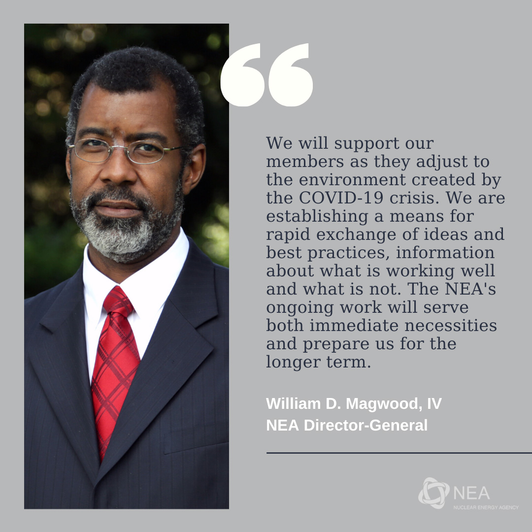 Message from NEA Director-General Magwood, April 2020