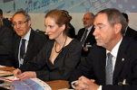 French Minister for Ecology, Sustainable Development, Transport and Housing Nathalie Kosciusko-Morizet (center), OECD Nuclear Energy Agency (NEA) Director-General Luis Echávarri (right) and French Atomic Energy Commission (AEC) Chairman Bernard Bigot (left)