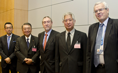 Photo (left to right): Mr. Kazuo Shimomura, Mr. Tadamori Oshima, Mr. Echávarri, Mr. Eisuke Mori and Mr. Thierry Dujardin
