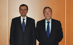 Photo: Ambassador Nikolay Spasskiy, Deputy Director-General for International Co-operation of the Russian Federation's State Atomic Energy Corporation, ROSATOM and OECD Nuclear Energy Agency (NEA) Director-General Mr. Luis Echávarri