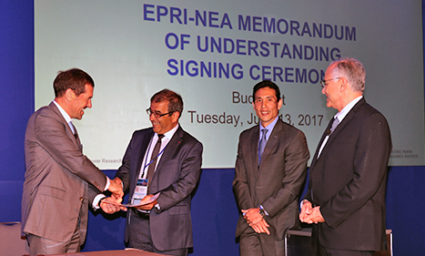 EPRI and NEA sign MOU to advance global nuclear research, 13 June 2017